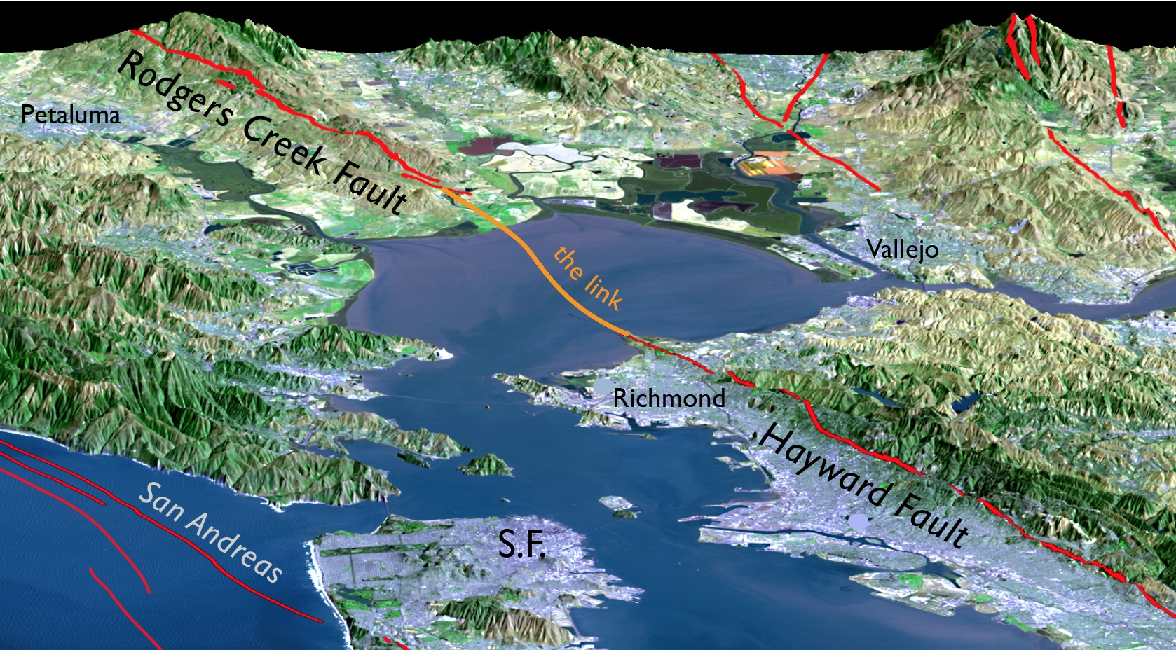 The Rodgers Creek and Hayward Faults are revealed to be one ...
